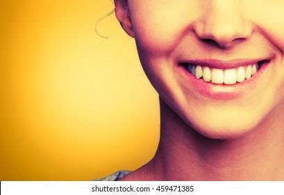 Human teeth.