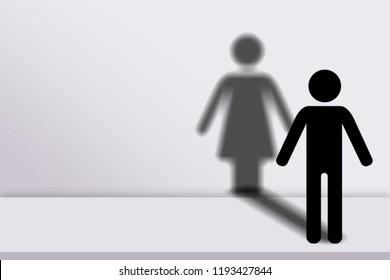 Human transgender concept