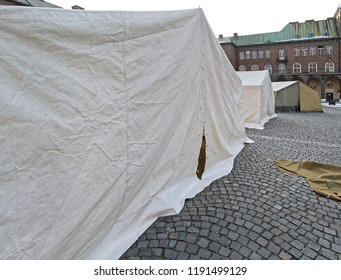Humanitarian Tent Shelter For Emergency in Town