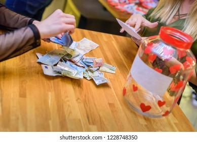 Humanitarian work , collecting money