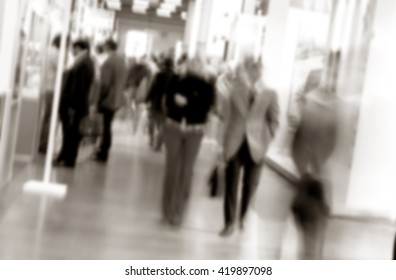 Humans unrecognizable. Background with an intentional blur effect applied.