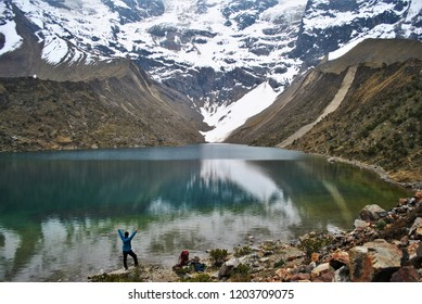 Humantay lake on Salkantay trek