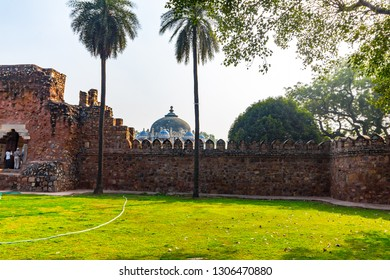 Humayun Tomb - Entry views of the first garden-tombon the Indian subcontinent. The Tombis an excellent example of Persian architecture. Located in the Nizamuddin East area of Delhi, India.