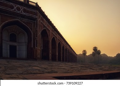 Humayun's Tomb, Delhi, India, 2016. A Landscape view of Humayun's tomb which is a World Heritage architecture, situated in Delhi, India.