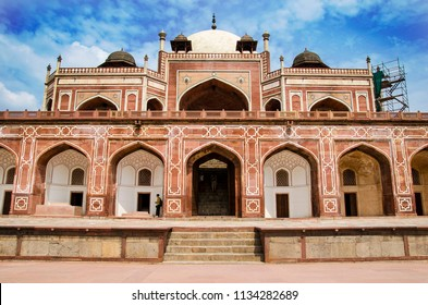 The Humayun's Tomb in Delhi, India. Humayun's tomb is the tomb of the Mughal Emperor Humayun.
