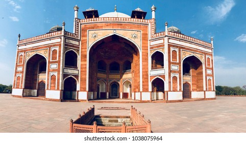 """HUMAYUN'S TOMB""- Humayun's tomb is the tomb of the Mughal Emperor Humayun in Delhi, India. The tomb was commissioned by Humayun's first wife and chief consort, Empress Bega Begum, in 1569-70,"