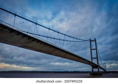Humber Bridge, Suspension Bridge, England, UK