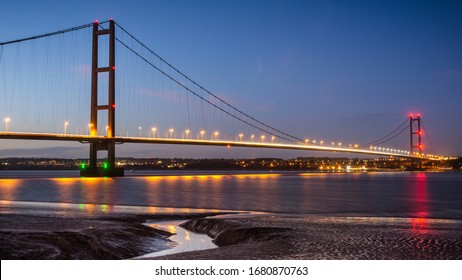 Humber Bridge Suspension Bridge joining East Riding of Yorkshire with North Lincolnshire.
