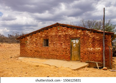 Humble house in the northeast backcountry of Brazil made in bricks in a drought region