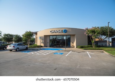 HUMBLE, TX, US-JUNE 10, 2017: Facade of JPMorgan Chase Bank. A national bank that constitutes the consumer and commercial banking subsidiary of the U.S. multinational banking and financial services.