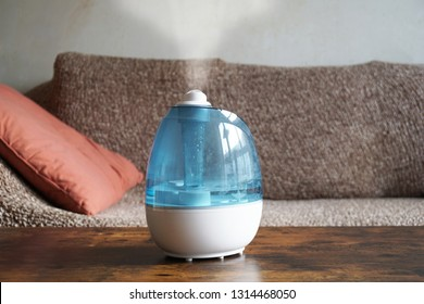 humidifier or air improver in living room to improve indoor climate