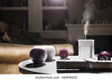 humidifier on the table in home interior