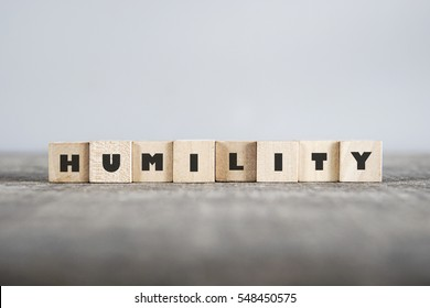 HUMILITY word made with building blocks