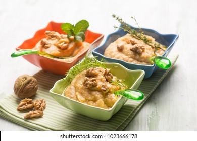 hummus traditional arabian appetizer