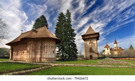Humor Monastery, Romania, view from exterior