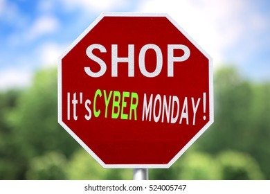 Humorous and Creative Sign-Shop It's Cyber Monday