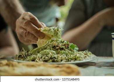 Humus vegan food