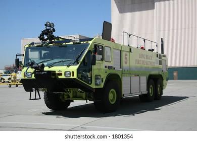 Humvee Firetruck Yellow Long Beach Fire Department
