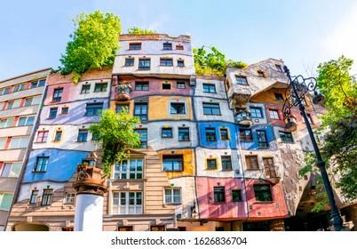 Hundertwasser house in Vienna, Austria - Shutterstock ID 1626836704