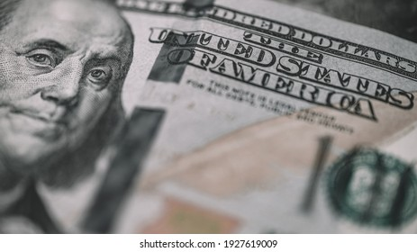 Hundred Dolar Banknotes Close Up View - Shutterstock ID 1927619009