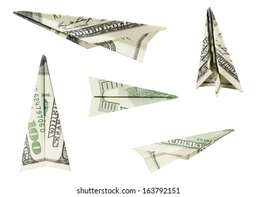 Hundred Dollar Airplanes (with clipping path)