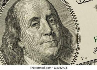 hundred dollar bill with a portrait of benjamin franklin