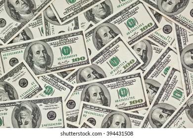 hundred dollar money banknote background