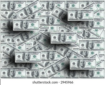 Hundred dollar notes 3D design
