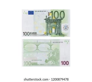 hundred euros isolated on white background, economy