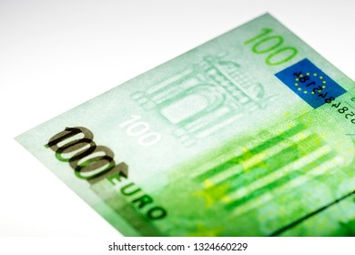 Hundred euros with a watermark