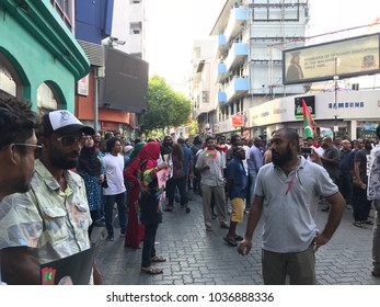Hundreds of people gather to call to release political prisoners around roads of Male City, Maldives- 2 March 2018