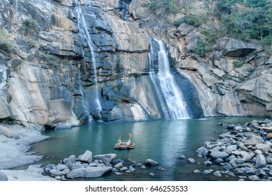 The Hundru Falls is a waterfall located in Ranchi district in the Indian state of Jharkhand. It is the 34th highest waterfall in India