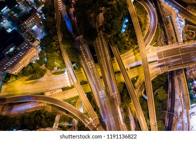 Hung Hom, Hong Kong, 05 Septemer 2018:- top down view of cross harbour tunnel