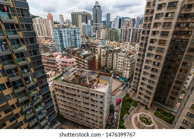 Hung Hom, Hong Kong 05 June 2019: Hong Kong residential apartment building