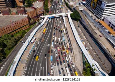 Hung Hom, Hong Kong, 07 November 2018:- Traffic in cross harbor tunnel in Hong Kong