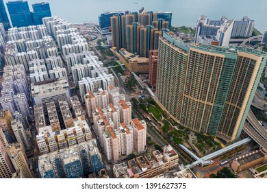 Hung Hom, Hong Kong 21 April 2019: Top view of Hong Kong city