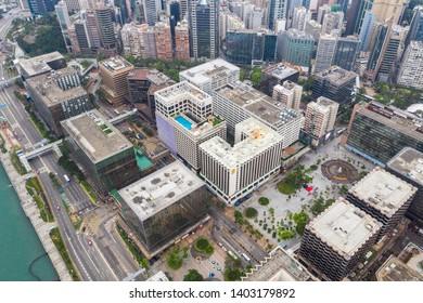Hung Hom, Hong Kong 21 April 2019: Aerial view of Hong Kong city