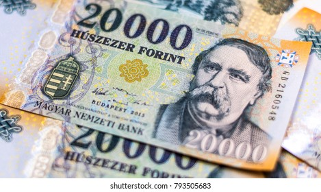 Hungarian 20000 forint banknotes