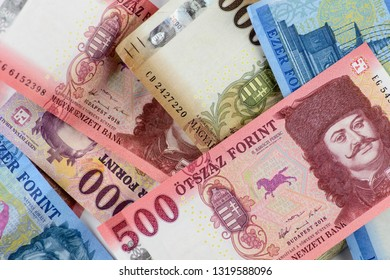 Hungarian banknotes with the new 500 forints. Europe Hungary.