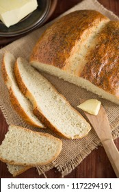 Hungarian cottage loaf bread with dill and caraway seeds