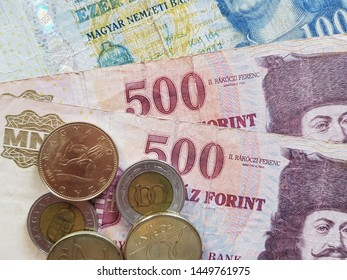 Hungarian Forint Banknotes and Coins, HUF, Hungarian currency, Inflation