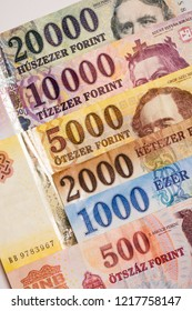 Hungarian forint banknotes, Hungarian currency, paper money, banking, exchange and finance concept.