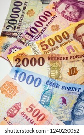 Hungarian forint banknotes as European currency, cash, money and exchange concept.