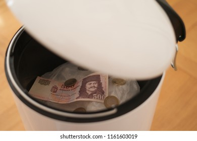 Hungarian Forint in the Dustbin