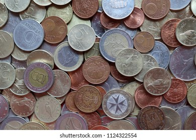 Hungarian forint and Euro coins