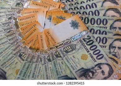 Hungarian forint,twenty thousand banknotes