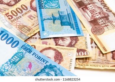 Hungarian hungary money forint bill 1000 5000