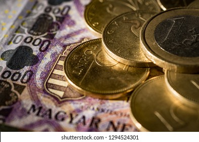 Hungarian money currency forint coins