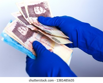 Hungarian paper forints. Hungarian money on a white background, close-up