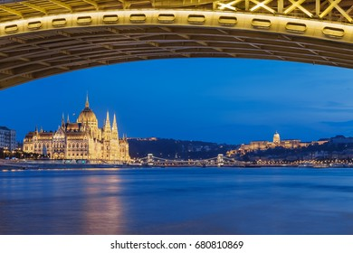The Hungarian Parliament in Budapest, Hungary.